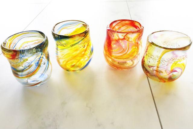 【岐阜・多治見市・ガラス細工】息でプウッと膨らませよう!吹きガラス(コップor一輪挿し)