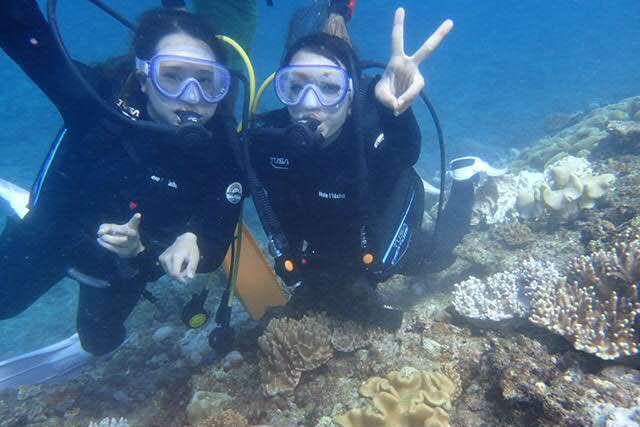 【沖縄・宜野湾・体験ダイビング】インストラクターと一緒で安心!サンゴと熱帯魚の青い海へ!