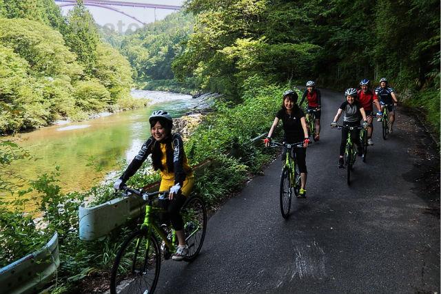 【岐阜・サイクリング】付知川コース!道の駅~ローマンやな場で、川沿いサイクリング