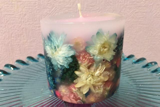 【千葉・船橋・キャンドル作り】カラフルな花が咲き誇る!ボタニカルキャンドル