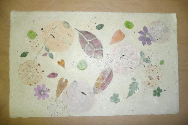 【高知・梼原町・紙漉き体験】草花を漉き込んだ、オリジナルの和紙を作ろう!