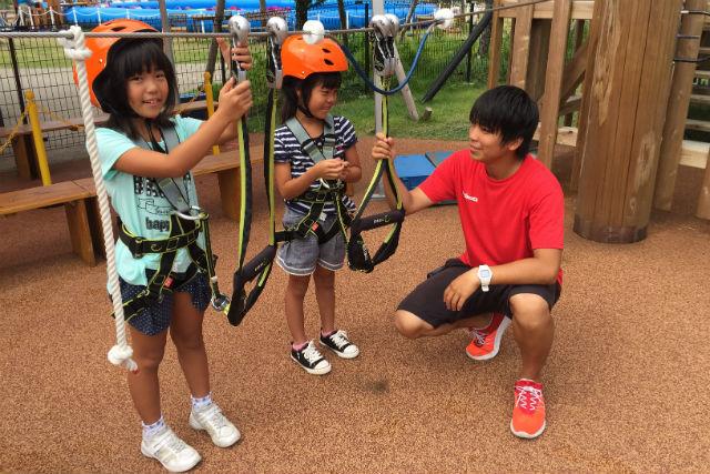 【愛知・アスレチック】小学1年生から楽しめる!空中アスレチック・中級コース(高さ4m)