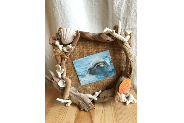 【兵庫・神戸市・マリンクラフト】タペストリーや額を作ろう!流木アート体験