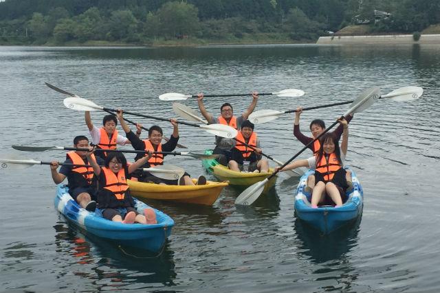 【岐阜・中津川市・カヤック】静かな湖をツーリング!高峰湖・カヤックツアー