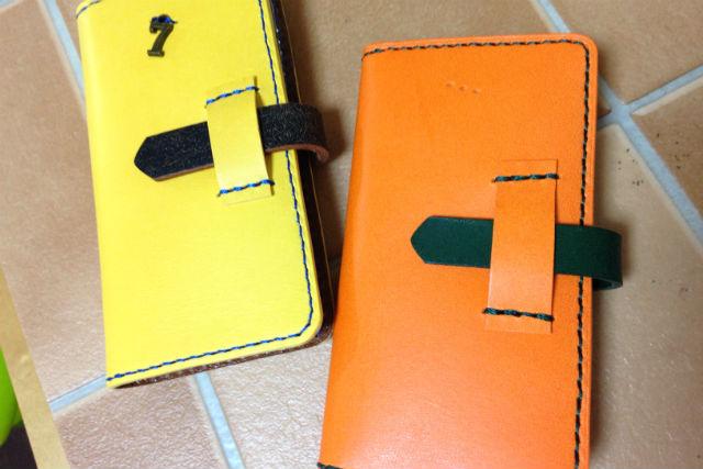 【福岡・レザークラフト】スマホを手帳風に持ち歩こう!スマホケース作り