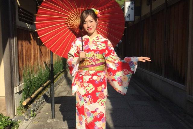 【京都・着物レンタル】21時まで営業!気軽にのんびりレンタル着物