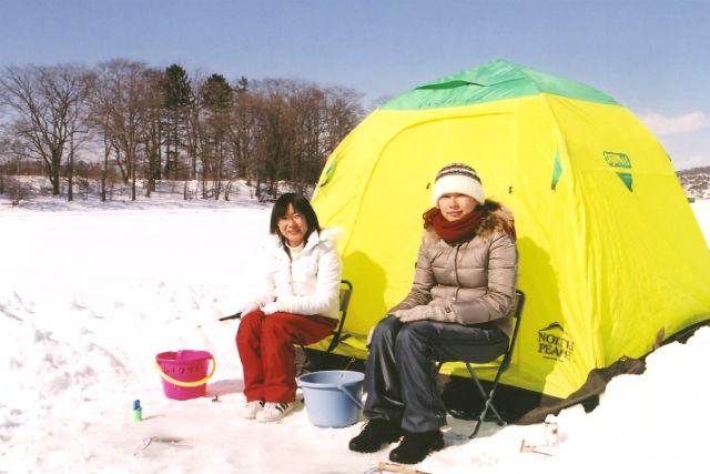【北海道・塘路湖・ワカサギ釣り】塘路湖でワカサギ釣りを楽しもう!(ホットコーヒー付)