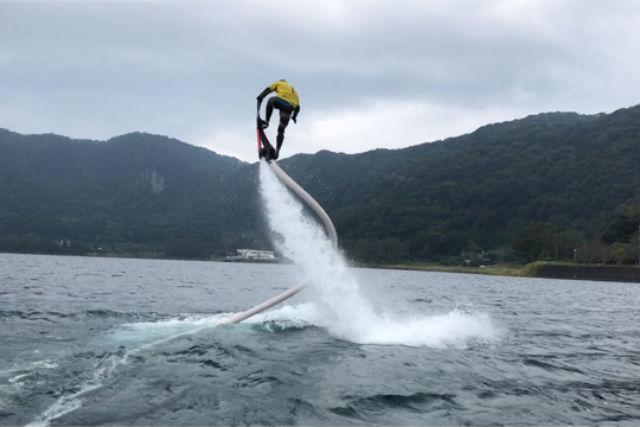 【鹿児島・指宿市・ホバーボード】横乗りジェットに乗ろう!ホバーボード体験