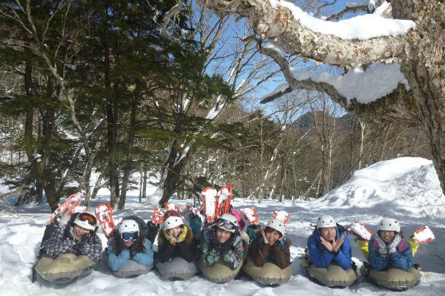 【栃木・日光市・エアボード】初心者も15分で滑れるように!雪山でエアボード体験