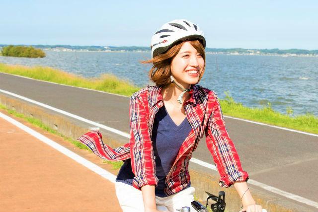 【茨城・霞ヶ浦・サイクリング】かすみがうらライドクエスト・フルーツハンター(ロングコース・約50km)※自動車でお越しの方