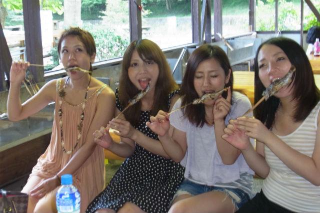 【静岡・島田市・釣り】たくさん釣って、たくさん食べよう!やまめ釣り&BBQ体験
