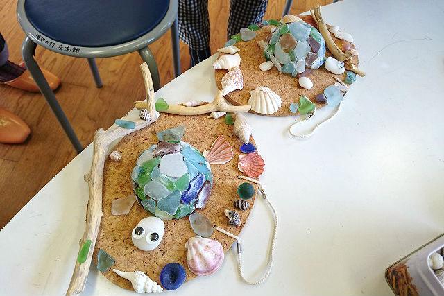 【大分・佐伯市・マリンクラフト】海の贈り物!シーグラスでカメを作ろう