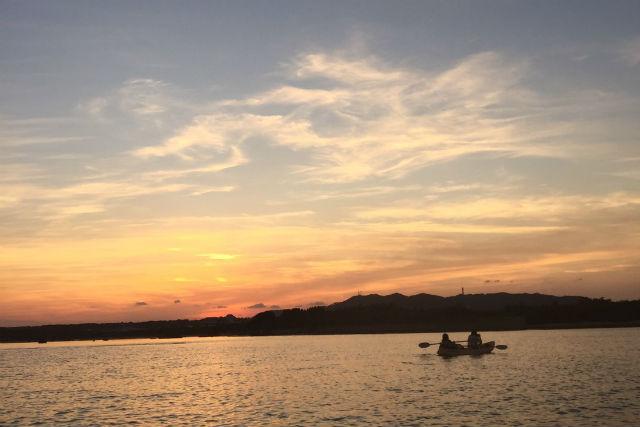 【石垣島・ナイトカヤック】サンセット&星空ナイトカヌー。日没とともに出発!カヌーで天体観測