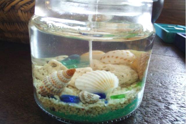 【徳島・キャンドル作り】小さな海を瓶詰めに。海のジェルキャンドル作り