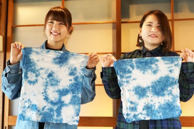 【愛知・藍染め体験】藍染初心者の方にオススメ!ハンカチ染め体験