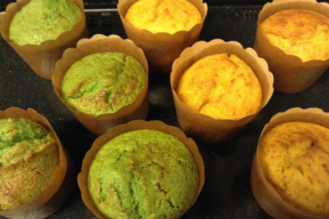 季節の野菜を使ったカップケーキ作り体験