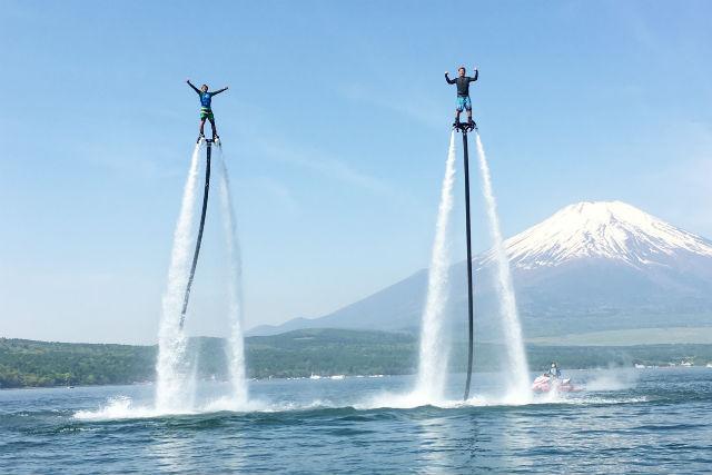【山梨・山中湖・フライボード】2つのジェット体験!フライボード・ホバーボードセット