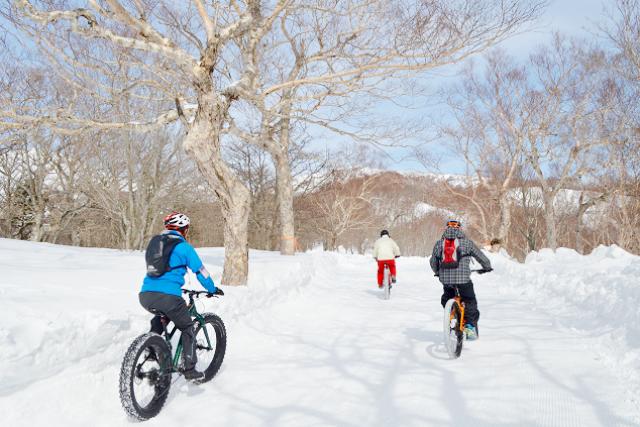 【栃木・那須・MTB】ファットバイクで雪上ライド!那須岳スノーサイクリングツアー