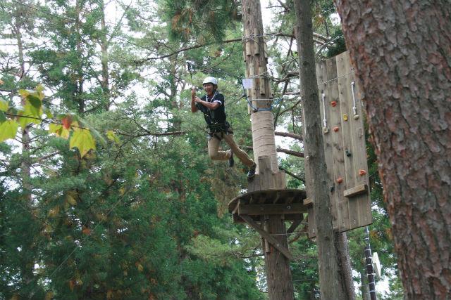 【栃木・那須・アスレチック】樹上のアスレチックで遊ぼう!ノザルコース(5コース・ジップライン付き)