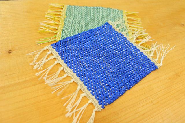 【京都・伝統工芸体験】シルク100%!手織りのコースターづくり