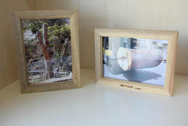 【熱海・木工体験】樹齢200年の大楠を使います!写真立て作り