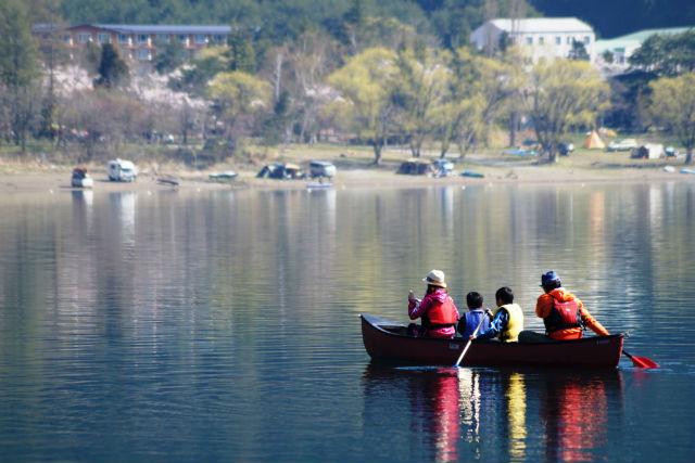 【山梨・西湖・カヌー】暖かい日差しの下で。アフタヌーンカヌー(12:30開催)