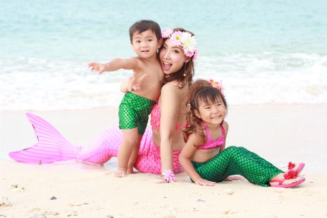 【沖縄・読谷村・変身写真】人魚姿で写真撮影できる!マーメイド体験(枚数制限なし)