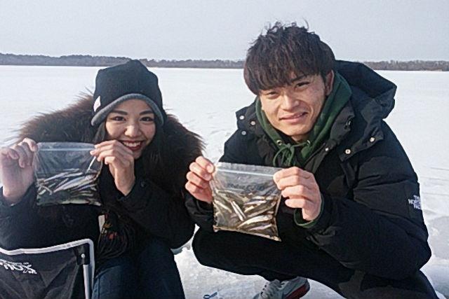 【青森・ワカサギ釣り】釣ったワカサギは天ぷらに!姉沼・ワカサギ釣り体験