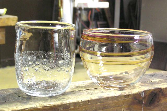 【石川・白山市・吹きガラス】作品をデザインできる!吹きガラス体験(コップ・小鉢・一輪差し)