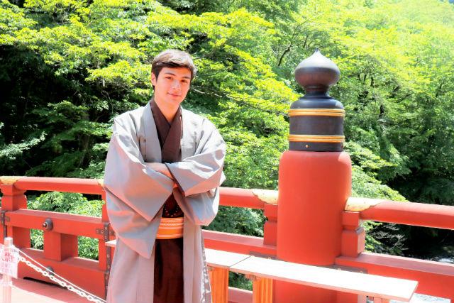 【栃木・日光市・着物レンタル】ハンサムな着物男子に変身。スタンダードメンズプラン