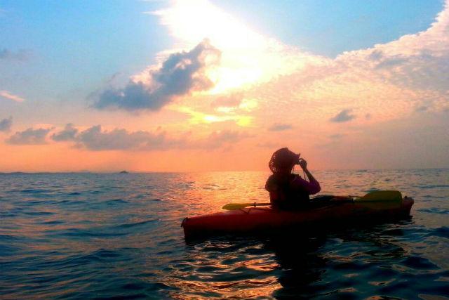【兵庫・カヤック】日本夕陽百選の海へ!サンセットクルーズ