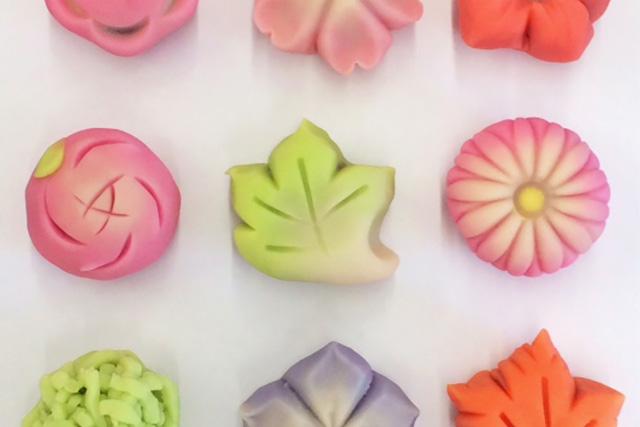 地元農産物を使って和菓子作り体験
