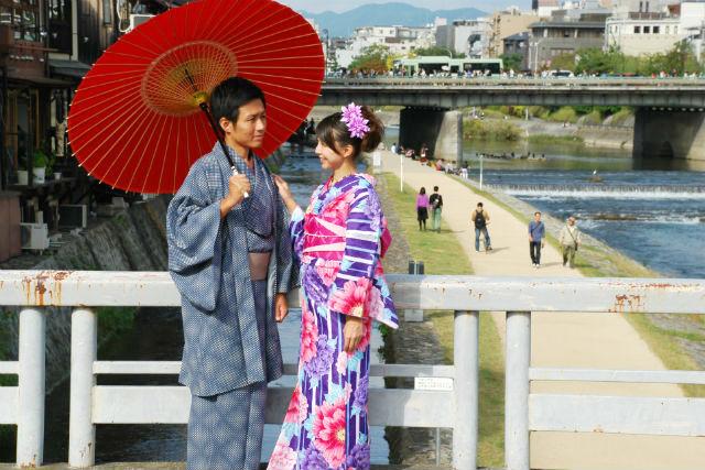 【京都市・着物レンタル】特別なデートに!カップル向け・着物レンタルプラン