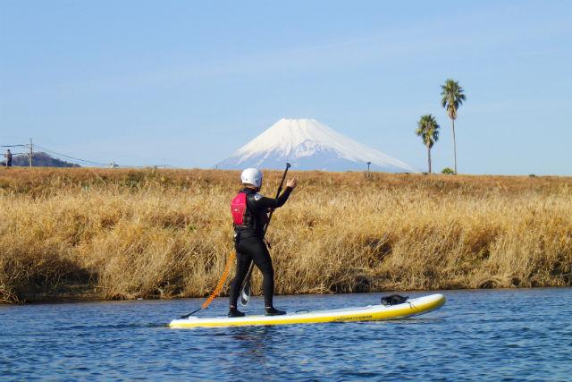 【静岡・伊豆・SUP】水上から富士山を見ながらリバーSUP!(午前・午後)