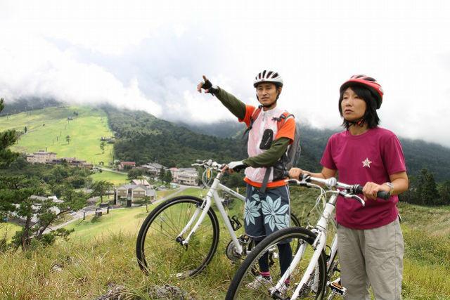 【鳥取・大山・サイクリング】大山スキー場~森の国へ。ダウンヒルAコース(17km)