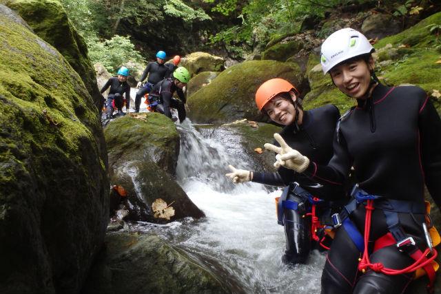 【長野・キャニオニング】雄大な自然を満喫!滝を目指すリアルアドベンチャー!