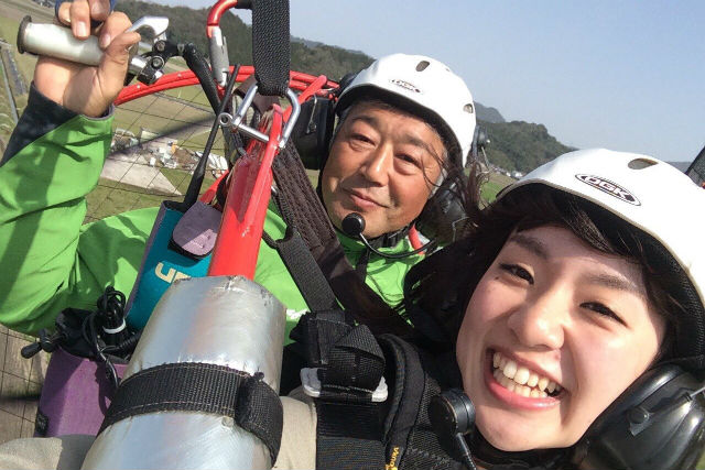 【滋賀・モーターパラグライダー】琵琶湖を見ながら飛ぼう!インストラクターと飛ぶ体験フライト