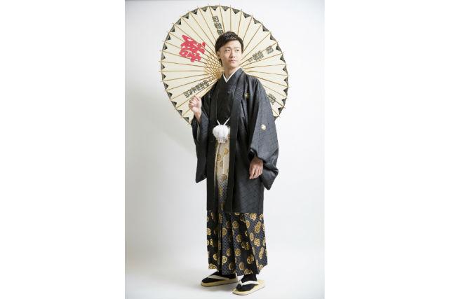 【北海道・札幌市・着物レンタル】男の魅力を引き立てる!メンズ着流し&袴レンタル