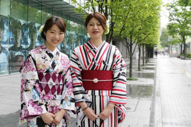 【北海道・札幌・着物レンタル】本格的な着付けでパッと華やかに!お出かけプラン