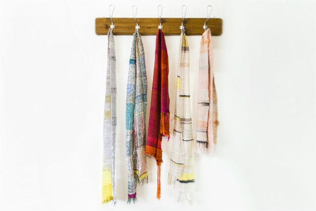 【長野・機織り体験】約4時間・400本の色糸をつかい放題!季節のストール作り
