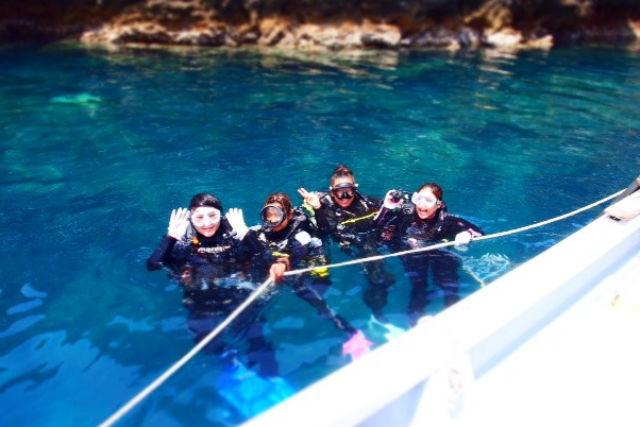 【鹿児島市・体験ダイビング】アドベンチャー気分を満喫!無人島で体験ダイビング