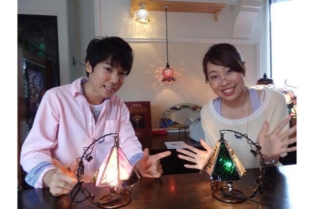 【長崎・ガラス細工】卓を明るく飾る!ステンドグラスのミニテーブルランプ