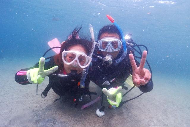 【静岡・伊東・ダイビング】マンツーマン指導で安心!初心者のための体験ダイビング
