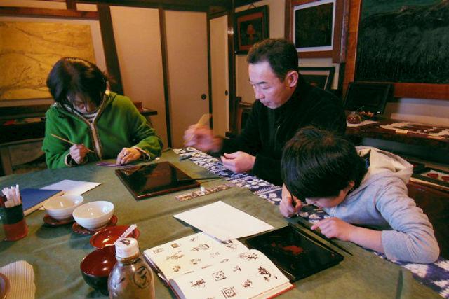 【宮城・大崎市・伝統工芸体験】プロの職人が指導します!漆絵付け体験・お箸(ランチ付)