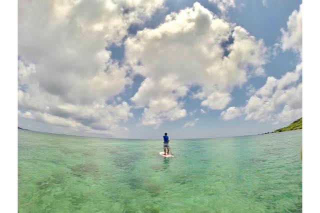 【宮古島・SUP】360度エメラルドブルー!「ウミガメとユニの浜」ツアー