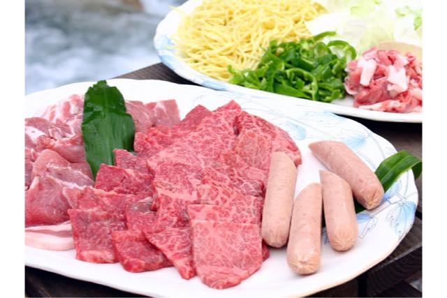 【岐阜県・郡上市】飛騨牛セット付。食材込みの手ぶらBBQ(4時間)