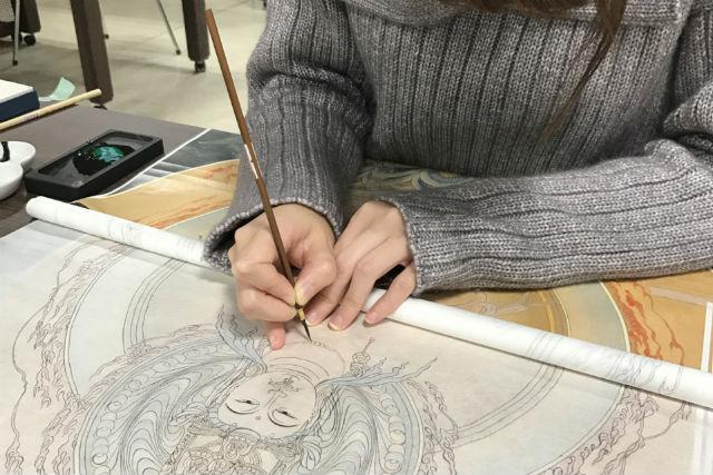 【愛知・名古屋市】心静かに没頭できる3時間!仏画写し体験