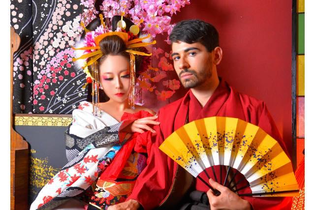 【石川・金沢・変身写真】二人で変身!侍&花魁カップルプラン(写真撮影付き)