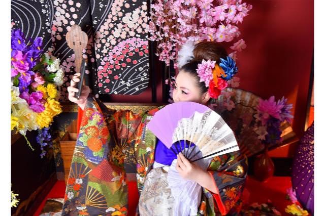 【石川・金沢・変身写真】12カットの中から6枚選べる!華やかに変身花魁体験プラン(桐)
