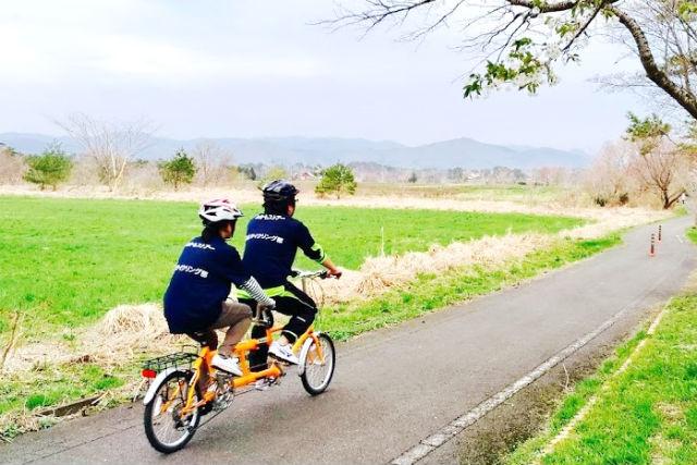【岡山・蒜山・サイクリング】2人乗り専用自転車で蒜山高原サイクリング(4時間)
